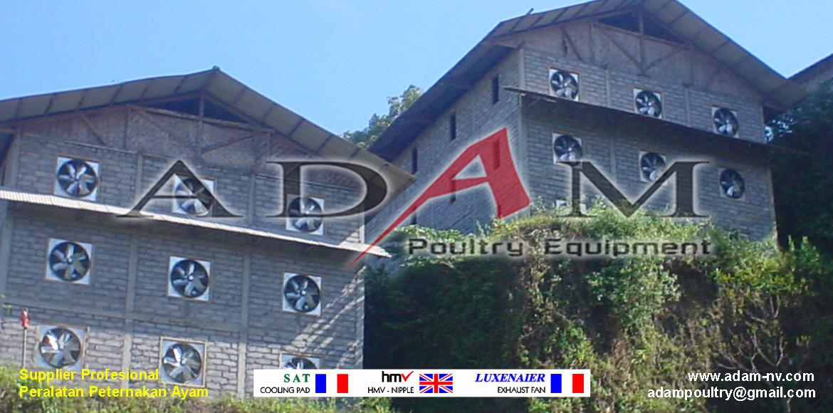 Pengerjaan Kandang Broiler Close House di Cirebon