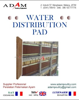 water distribution pad, wdp, celdeg munters, celdeg muntres, kandang close house, kandang closed house