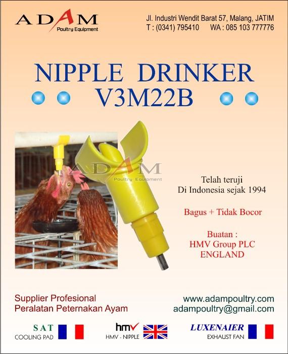 alat minum ayam broiler otomatis potong nipple pedaging nipel puyuh nepel doc  V3M22B