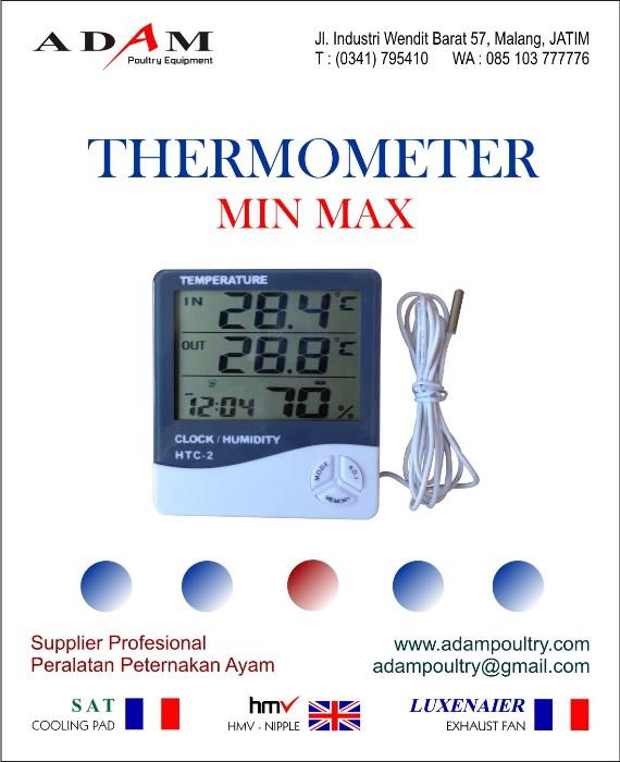 Thermometer min max Alat ukur suhu min-max