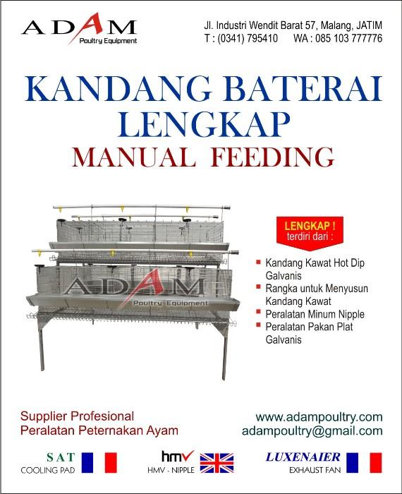 Kandang Baterai Lengkap Manual Feeding