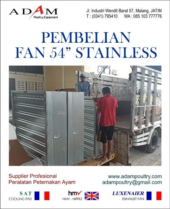 pembelian exhaust fan 54 stainless adam poultry malang