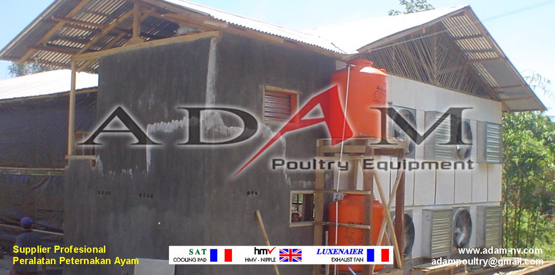Pengerjaan Kandang Broiler Close House di Balikpapan
