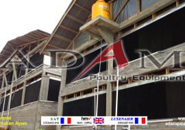 Pengerjaan Kandang Broiler Close House di Palu