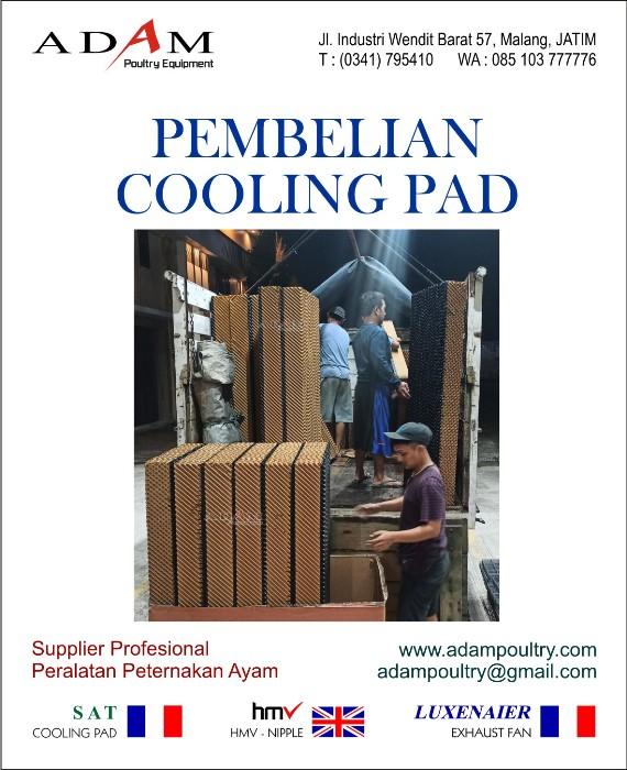 pembelian cooling pad 150 alat close house adam poultry malang
