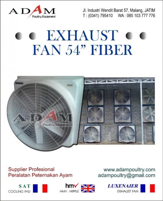 Exhaust Fan 54″ Fiber Pendingin untuk Kandang Tertutup
